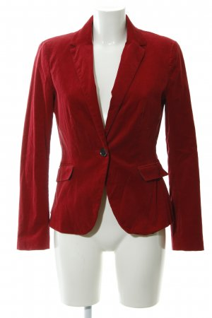 Zara Basic Veste de smoking rouge foncé tissu mixte