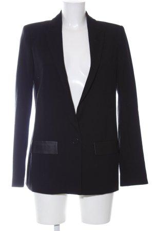 Zara Basic Smoking-Blazer schwarz Business-Look