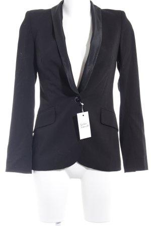 Zara Basic Blazer smoking nero elegante