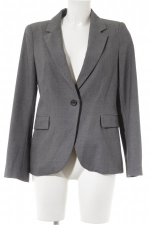 Zara Basic Smoking-Blazer schwarz-hellgrau Business-Look