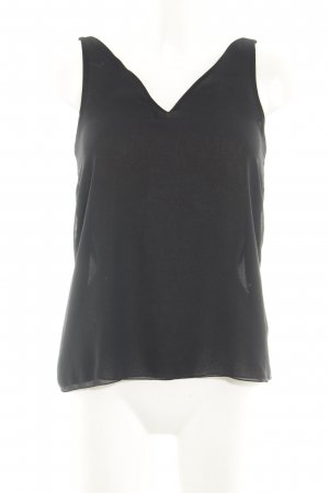 Zara Basic Spaghetti Strap Top black casual look
