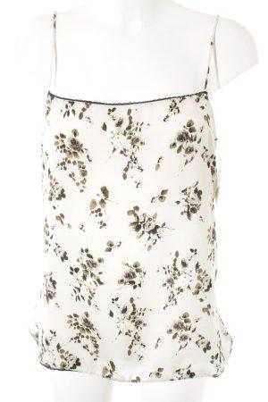 Zara Basic Top con bretelline motivo floreale stile romantico