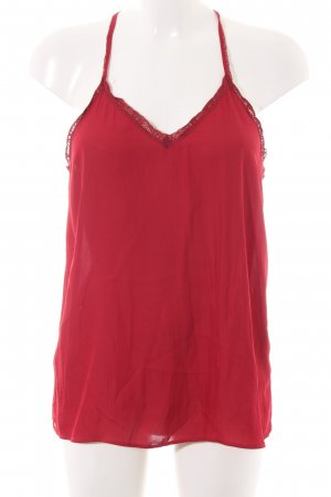 Zara Basic Spaghetti Strap Top red casual look