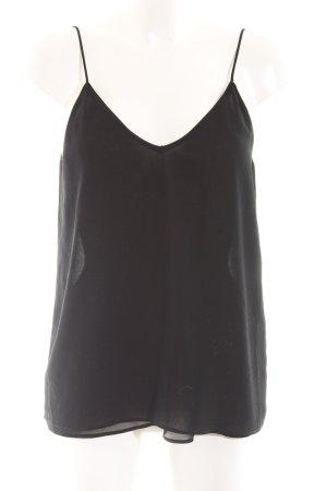 Zara Basic Haut à fines bretelles noir style décontracté