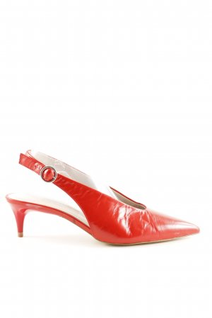 Zara Basic Spitz-Pumps rot Business-Look