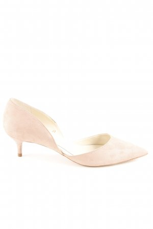 Zara Basic Pointed Toe Pumps dusky pink elegant