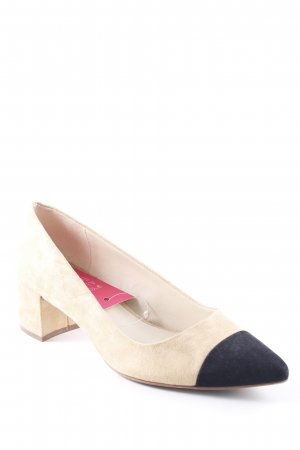 Zara Basic Spitz-Pumps beige-schwarz Business-Look
