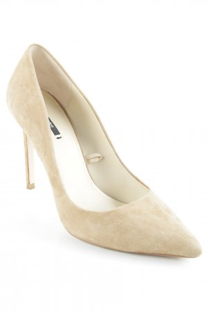 Zara Basic Spitz-Pumps creme Business-Look