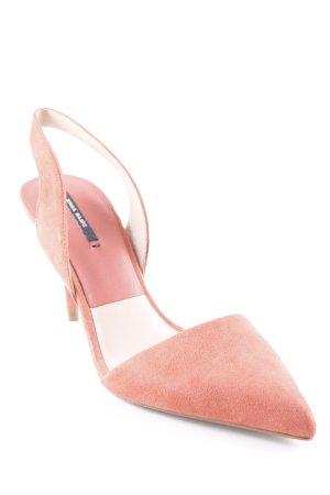 Zara Basic Spitz-Pumps lachs Elegant