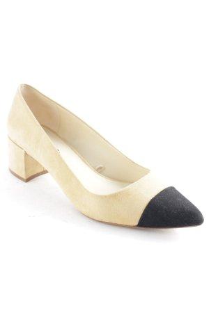 Zara Basic Spitz-Pumps schwarz-beige Business-Look