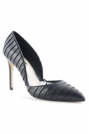 Zara Basic Spitz-Pumps schwarz Steppmuster Business-Look