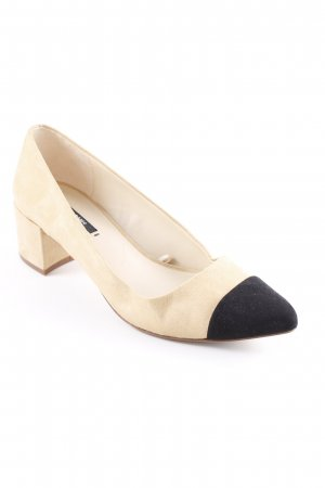 Zara Basic Spitz-Pumps weiß-sandbraun Business-Look