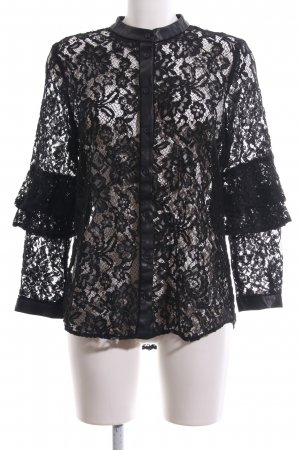 Zara Basic Lace Blouse black casual look
