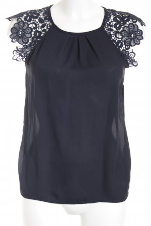 Zara Basic Spitzenbluse blau Party-Look