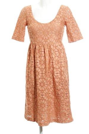 Zara Basic Spitzenkleid apricot Elegant