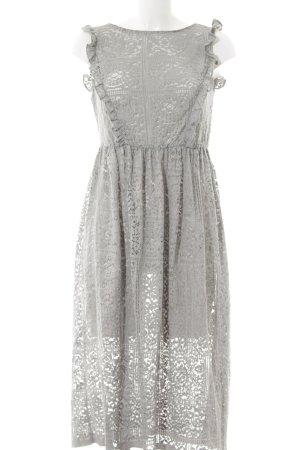 Zara Basic Spitzenkleid grau florales Muster Romantik-Look