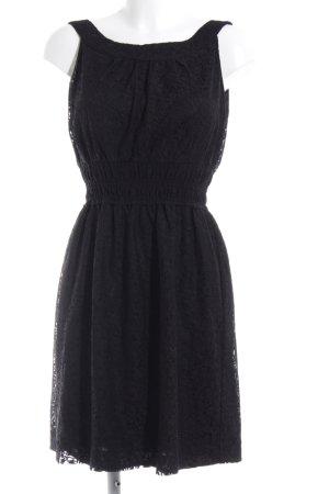 Zara Basic Spitzenkleid schwarz Elegant