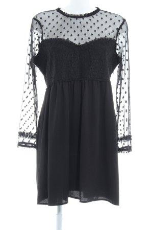 Zara Basic Spitzenkleid schwarz Netz-Optik