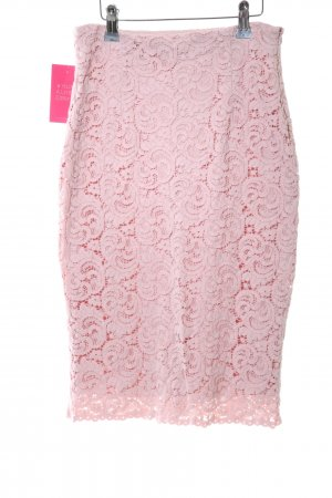 Zara Basic Spitzenrock pink Business-Look