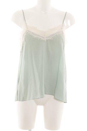 Zara Basic Spitzentop grün Elegant