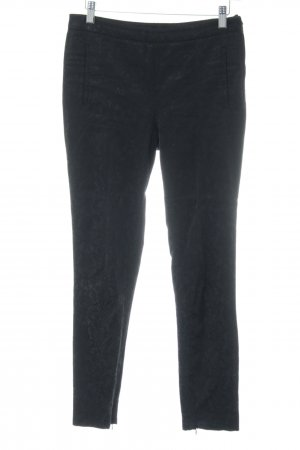 Zara Basic Pantalón con estribo negro look casual