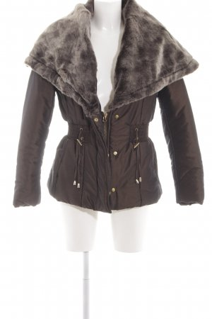 Zara Basic Steppjacke braun Casual-Look