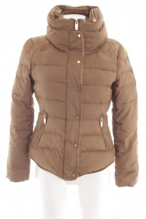 Zara Basic Quilted Jacket bronze-colored quilting pattern casual look