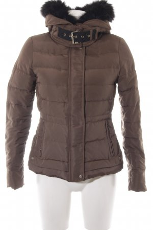Zara Basic Quilted Jacket grey brown-black fluffy