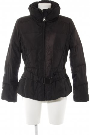 Zara Basic Steppjacke schwarz Casual-Look