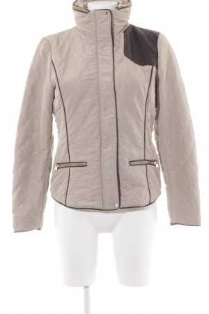 Zara Basic Steppjacke schwarzbraun-beige Steppmuster Casual-Look