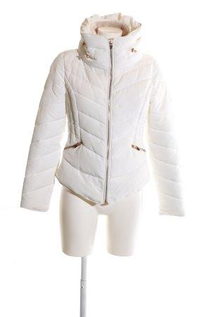 Zara Basic Veste matelassée blanc cassé style décontracté