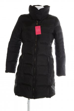Zara Basic Quilted Coat black quilting pattern casual look