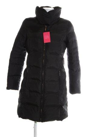 Zara Basic Manteau matelassé noir motif de courtepointe style décontracté