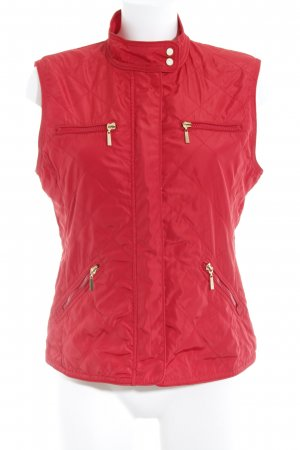 Zara Basic Steppweste rot Steppmuster schlichter Stil