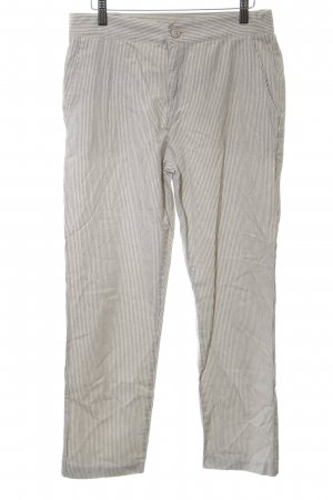 Zara Basic Stoffhose hellgrau-weiß Streifenmuster Casual-Look