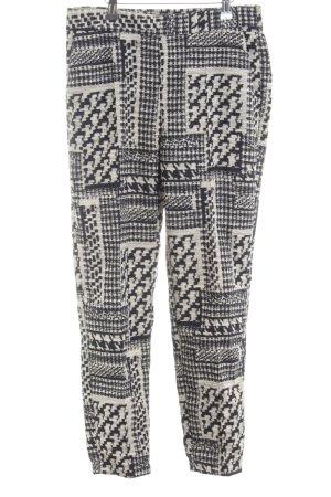 Zara Basic Stoffhose schwarz-weiß Allover-Druck Casual-Look