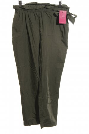 Zara Basic Stoffen broek khaki casual uitstraling
