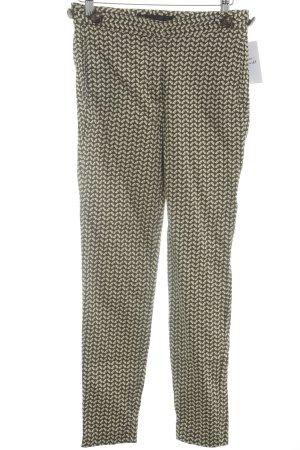Zara Basic Stoffhose abstraktes Muster Casual-Look