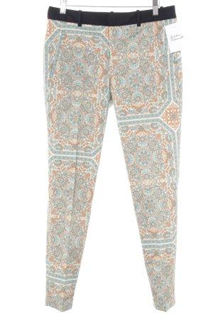 Zara Basic Stoffhose abstraktes Muster extravaganter Stil