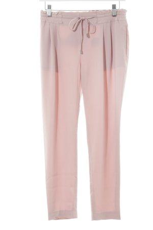 Zara Basic Stoffen broek stoffig roze casual uitstraling