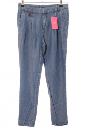 Zara Basic Stoffhose blau Casual-Look