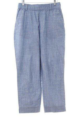 Zara Basic Stoffhose blau meliert Casual-Look