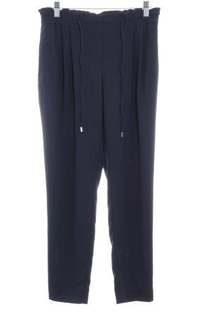 Zara Basic Stoffen broek donkerblauw Beach-look