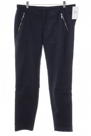 Zara Basic Stoffhose dunkelblau Business-Look