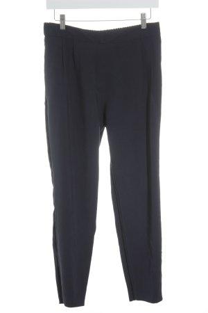 Zara Basic Pantalone jersey blu scuro elegante