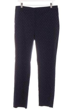Zara Basic Stoffhose dunkelblau Punktemuster Casual-Look