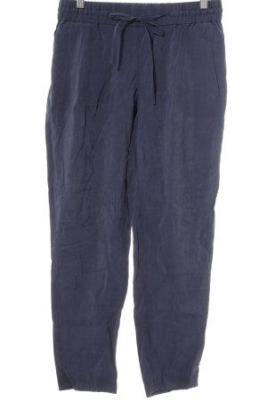 Zara Basic Stoffhose dunkelblau sportlicher Stil