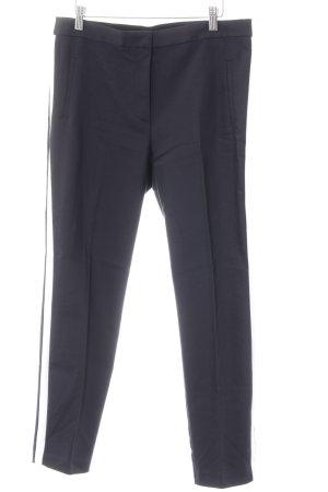 Zara Basic Stoffhose dunkelblau-weiß Casual-Look