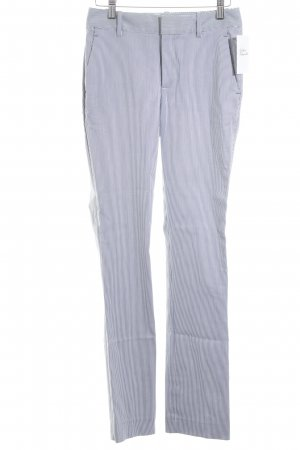 Zara Basic Stoffhose dunkelblau-weiß Streifenmuster Casual-Look
