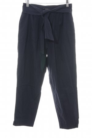 Zara Basic Stoffhose blau Casual-Look